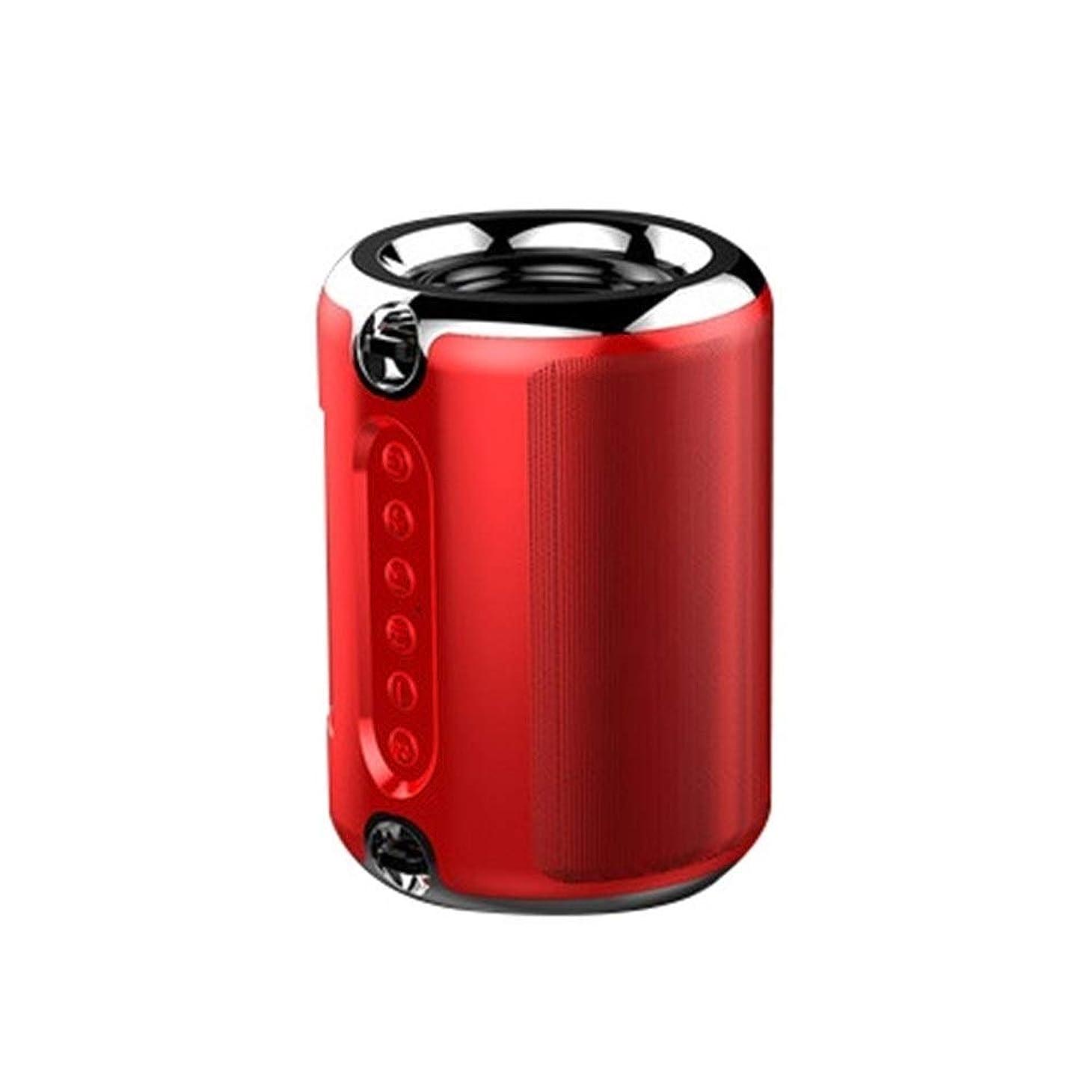 セクタ不正直標準ZHICHUANG HDサウンドとサブウーファーを備えたWalledKingワイヤレスBluetoothポータブルスピーカー、大容量バッテリー、12Hプレイタイム、(ブラック/レッド/スライバー)。 (Color : Red)