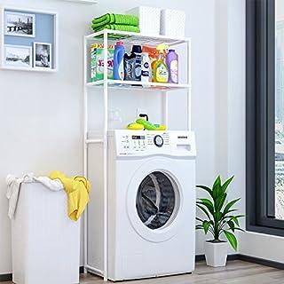 Étagère en métal pour machine à laver, WC, buanderie haute, étagère de salle de bain, étagère de rangement, étagère superp...