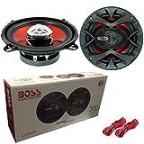 BOSS Audio CH5520 CH 5520 - Par de altavoces difusores de 13 cm, 130 mm, 5', 5,25', 100 W, RMS, 200 W, máximo predisposición para coche, sistema de 2 vías coaxiales para puertas de coche