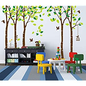 Giant Jungle Tree Wall Decal Removable Vinyl Sticker Mural Art Bedroom Nursery Baby Kids Rooms Wall Décor