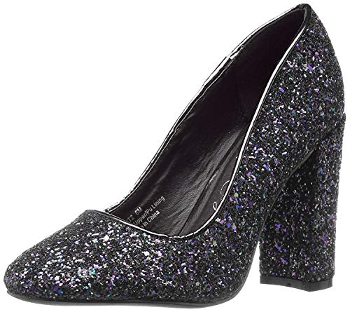 Penny Loves Kenny Damen Ritz, Schwarz Glitter, 40 EU