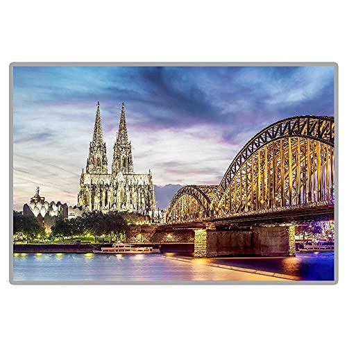 neivy Puntos escénicos de fama Mundial Catedral de Colonia 5D DIY Pintura de Diamante Cuadrado Completo Bordado de Diamantes de imitación (Cuadrado 30x40 cm)