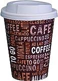 Gastro-Bedarf-Gutheil - 100 tazze da caffè in cartone, 250 ml, usa e getta, 0,25 l, con coperchio, colore: Bianco