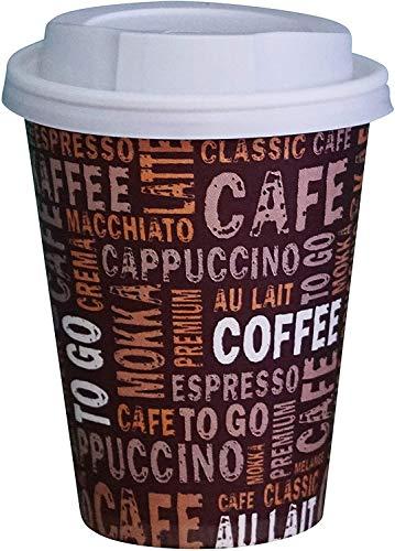 Gastro-Bedarf-Gutheil 100 vasos de café de cartón, 250 ml, vasos desechables desechables...
