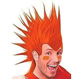 amscan Party Perfect Team Spirit Crazy Mohawk Wig (1 Piece), Orange, 11 x 8
