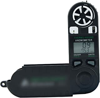 YUWEIPING Anemometer Digital Anemometer Anemometer Hand-held Wind Speed/Wind Temperature Tester Wind Meter (Color : Black)