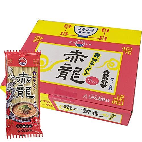赤龍 ラーメン ピリ辛味噌とんこつ味 1人前 15入 ノンフライ麺