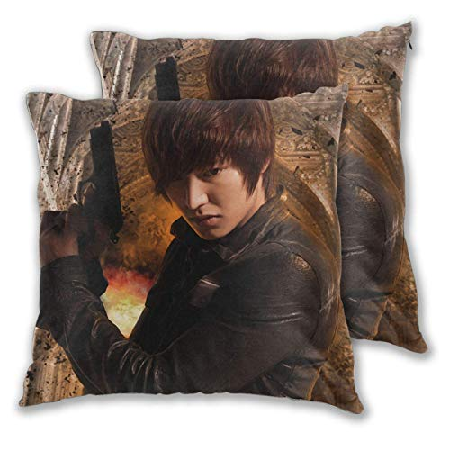 Yuanmeiju Min-Ho Lee Throw Pillow Covers Decorative Couch Pillows, Square Pillow Covers Set of 2 Fashion Pattern Throw Pillows Case for Living Room Sofa Bedroom 20'x20'