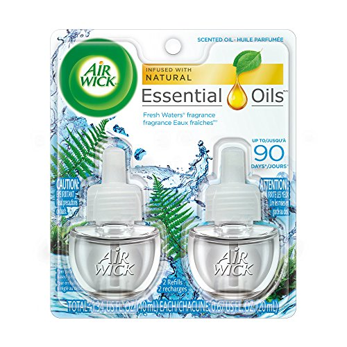 Air Wick Scented Oil Air Freshener, Fresh Waters - Twin Refills - 0.67oz