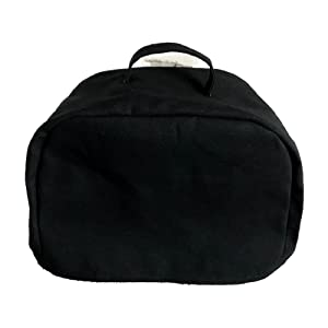 2 Slice Slot Toaster Cover Black with a Carrying Handle Cotton Canvas Fabric Made in Ohio