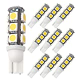 GRV T10 921 194 13-5050 SMD Wedge LED Bulb lamp Super Bright Warm...