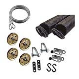 Garage Door Extension Spring KIT Double Looped for 7' High Door 25-42-130 Pounds (Pair)