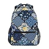 DXG1 - Mochila con diseño de rosas japonesas para mujeres, hombres, adolescentes y niñas, para la escuela, bolsa de libros, bolso informal, suministros para mochila