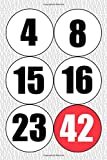 4 8 15 16 23 42: Lost TV Show Lottery Ticket Numbers Pop Culture Notebook Journal