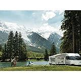 Thule QuickFit/EasyLink - Kit di montaggio a parete, adattatore per guide per caravan e campeggio, antracite.