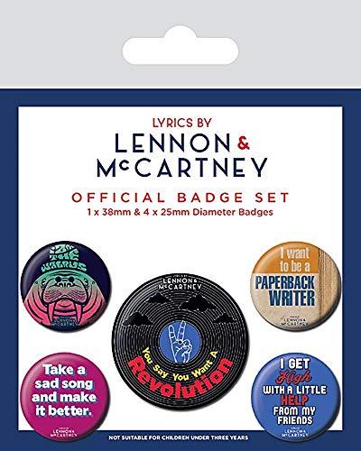 Pyramid Lyrics by Lennon & Mccartney Badgepack (Pin Badge