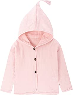 Fairy Baby Baby Girl Kids Cotton Long Sleeve Hooded Coat Jacket Winter Outwear Size 1-2T (Pink)