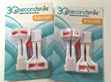 30 Second Smile - Ultra Extra Soft (2 Pack) Dual Brush Replacement Heads for Electric Toothbrush - Teeth Whitening, Plaque Removal, Oral Care - Dentist Recommended