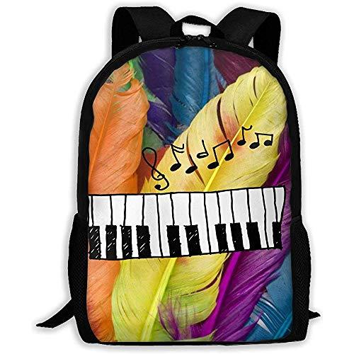Casual Schultasche Piano Music Icon Hand Zeichnen Design Rucksack Frauen 3D Print Daypacks Für Männer