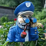 Dekofigur Kapitän mit Fernglas Spanner Beobachter Jäger Gartenfigur Maritim