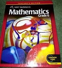 Holt McDougal Mathematics: Teacher's Edition Grade 6 2012 by HOLT MCDOUGAL (2011-06-27)