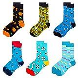 LZYMSZ 6 Paare Unisex Socken, Stilvolle Gemusterte Socken Herren, Socken Damen Bunt 39-46, Cotton Classic Bequem Hilfiger Herren Socken