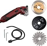 S SMAUTOP Mini Electric Compact Circular Saw 400W Circular Saw Machine Woodworking Tools Cutting Blades Kit