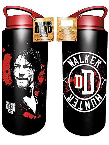 The Walking Dead AluTrinkflasche Daryl Dixon - schwarz, Bedruckt, aus Aluminium, Fassungsvermögen ca. 700 ml.