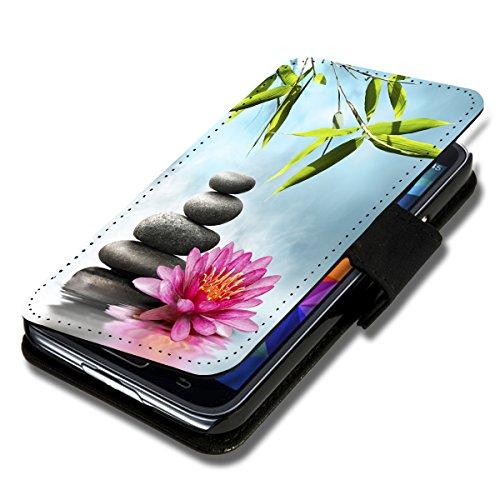 wicostar Book Style Flip Handy Tasche Hülle Schutz Hülle Schale Motiv Etui für Wiko Ridge Fab 4G - Flip 1X16 Design9