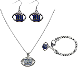 3 PCS Silver Jewelry, a Set of Silver Jewelry, Including Necklaces, Bracelets, Earrings, Silver Accessories with NFL Dallas Cowboys Logo, to Meet Your Pursuit of Beauty and Fashion