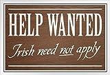 Poster Foundry Help Wanted Irish Need Not Apply Anti Irish