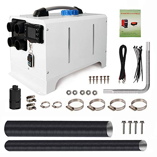 8KW 12V All-in-One Diesel Air Heater, Parking Heating w/LCD Switch Monitor Display, Remote Control&Muffler, Fast Heating Defrosting Defogger Car Heater Kit for Trucks, Camper, Trailer, Vans, RV, Boat