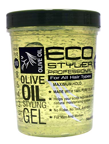Eco Style Olive Oil Styling Gel, Green, 946 ml,I905A