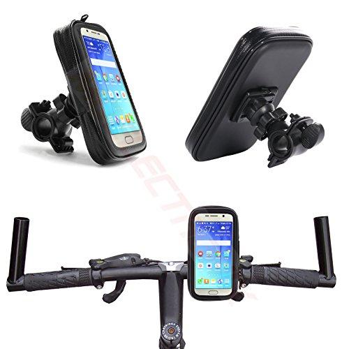 MOELECTRONIX 1A Fahrrad Halterung Wasserdicht Handy Halter Tasche Bike Holder passend für Samsung Galaxy Xcover 4 SM-G390F