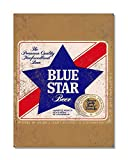 Funky NE Ltd Blue Star Beer - La bière de Nouvelle-Zélande de qualité Premium - Reproduction publicitaire - Plaque - Style rétro - Affiche Murale en métal Vintage - J0435, Métal, Small