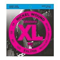 DADDARIO (ダダリオ) ベース弦 EXL170S Nickel Wound Bass Light 45-100 Short