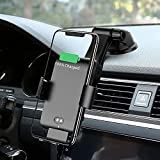 MANKIW Wireless Car Charger Automatic Clamping 10W Qi Fast Charging Car Charger Mount Compatible with iPhone 12/12pro/12 pro max/11/11pro/11pro MAX/Xs MAX/XS/XR/X/8/8p Samsung S10/S10+/S9/S9+/S8/S8+