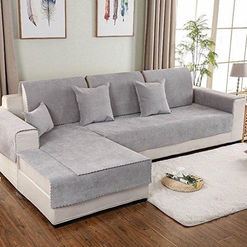 TY&WJ Tela Impermeable Funda para sofá Antideslizante Resistente a Las Manchas para el salón Aire Libre Perro del Animal doméstico y los niños -Gris 110x240cm(43x94inch)