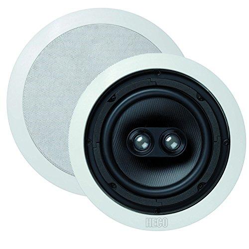 Heco Install Basic INC 262 | Wand- und Deckeneinbaulautsprecher | für Feuchträume (Badezimmer) geeignet | max 150 Watt | 1 Stück - weiß