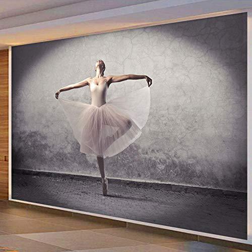 LYBH Papel tapiz mural 3D fondo fotográfico autoadhesivo bailarina niña 350x256 cm (ancho x alto) papel pintado de dibujos animados para niños arte pintura decoración hogar dormitorio sala de estar s