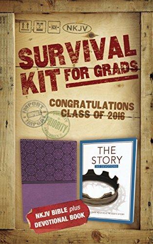 NKJV, 2016 Survival Kit for Grads, Purple, Red Letter Edition: NKJV Bible plus Devotional Book, The Story Devotional by Zondervan (2016-03-29)
