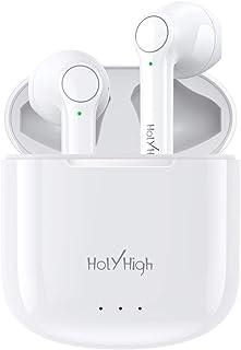 HolyHigh Auriculares Inalambricos, Auriculares Bluetooth Deportivos con Microfono, Auriculares Inalámbricos con 25H de Rep...