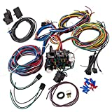 Wiring Harness Kit 21 Circuit Long Wires Standard Color Wiring Harness Kit for Chevy Mopar Hotrods Ratrods Ford Chrysler...