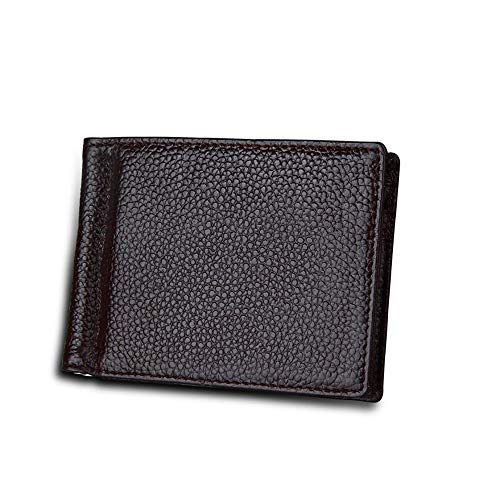 Mens bags for work Men's Wallet US Dollars Clip Card Package The First Layer Of Leather Banknotes Folder Anti-RFID Anti-theft Brush Travel Best Choice Men's Bag ( Color : Coffee , Size : S )