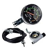 XIAOLUTIANM Medidor de velocímetro Velocímetro de Ciclo Bici del odómetro mecánico Cronómetro Velocidad RPM medidores de Bicicletas Accesorios Bicicleta