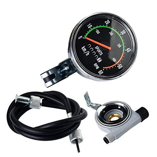 no-branded ZHQHYQHHX - Cuentakilómetros para bicicleta, cuentakilómetros de bicicleta, mecánico, cronómetro, velocidad RPM, indicadores de bicicleta, ciclismo, ordenador, accesorios