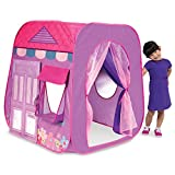 Playhut Beauty Boutique Pop-Up Play Tent – Easy Pop-Up and Fold Down, Working Door, Pretend Dressing Room with Mirror, Materials