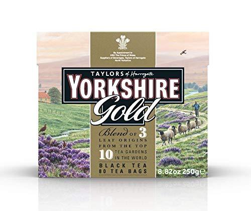 Taylors of Harrogate Yorkshire Te negro Gold 80 bolsas - 1 unidad