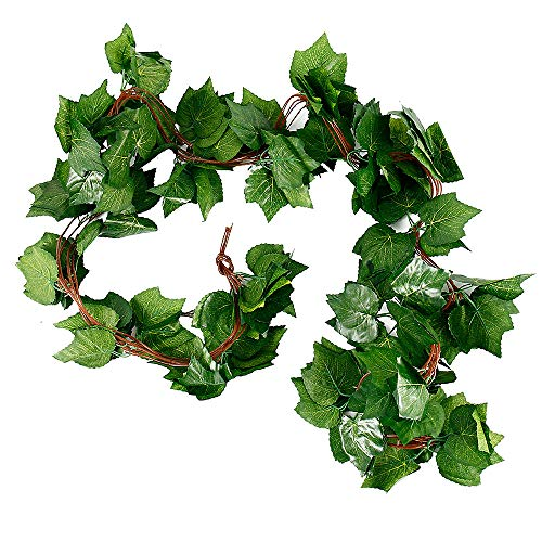 Your's Bath Artificial Vines,10pcs Fake Simulation Foliage Leaf Hanging Plant Garland DIY Decorative Home Wall Garden Rustic Wedding Party Wreaths and Flower Decor