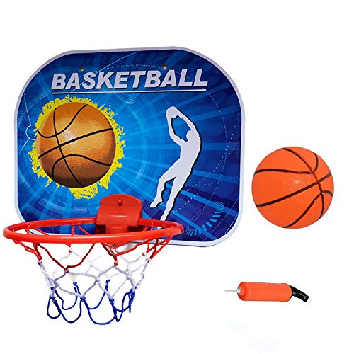 Coolbitz Kids Adult/Children's Mini Basketball Hoop Board Toy Backboard Wall Mounted with Net Ball Portable Indoor Outdoor Sport Toys for Kids Suitable for Living Room/Bathroom/Bedroom